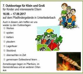 Outdoor-Tage 2017