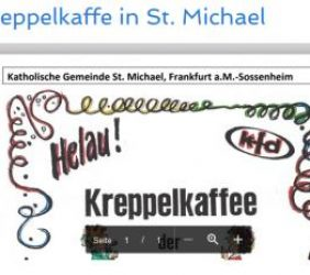 16.02.: Kreppelkaffe in St. Michael