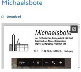 Der neue Michaelsbote ist online
