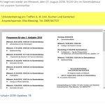 Spätlese '74: Programm für das 1. Halbjahr 2019