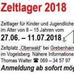 Besuch im Zeltlager 2018…