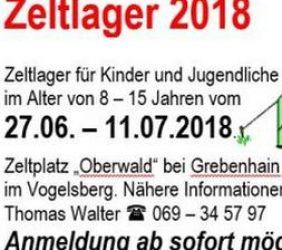 Zeltlager 2018 – seid dabei!