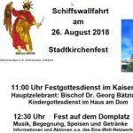 Schiffswallfahrt am 26.08.2018