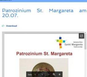 Patrozinium St. Margareta am 20.7.