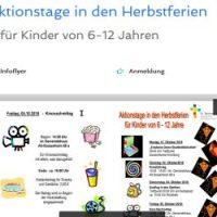 8.-11.10.2019 Aktionstage in den Herbstferien...