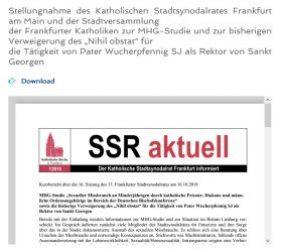 SSR Aktuell 7/2018; MHG-Studie Sexueller Missbrauch…