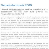 Gemeindechronik 2018
