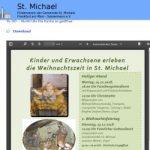 Kinder und Erwachsene erleben die Weihnachtszeit in St. Michael