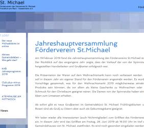 Jahreshauptversammlung des Fördervereins St. Michael, Frankfurt am Main e.V.