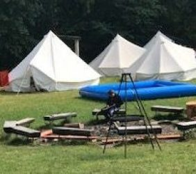 Besuch im Zeltlager 2019…